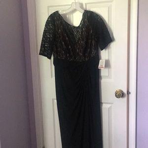 David's Bridal Black Lack Dress